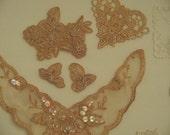 Lace Applique Trims - Mixed Lot - 18 Pieces - Destash - Clearance Sale
