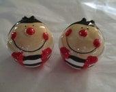 Ladybug Bugs Salt and Pepper Set Ceramic Insects Happy Ladybugs Smiling CUTE
