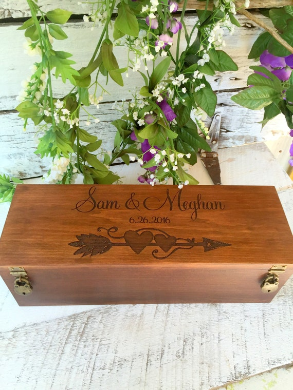 Wedding Gift Box Wine : Wine Box, Wedding Wine Box, Wedding Gift, Custom Wine Box, Engraved ...