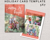 Christmas Card Template, Printable Holiday Card, Photo Card, DIY, Do it Yourself, Postcard, Print at Home, Instant Download, Brother Wilson