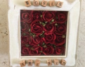 Roses Are Red, Original Art Picture, Small Shadowbox / Diorama