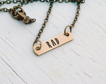 Rad Brass Bar Necklace