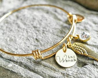 Best Friend Bracelet - Wing Woman Bracelet - Bridesmaid Gift - Bachelorette Gift - Best Friend Gift - Maid of Honor Gift - Sister Gift