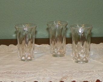 Ask for 30% off Antique Signed Webb Crystal Glass CORDIALS  Diamond optic new England Glass Co
