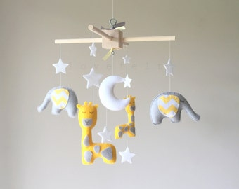 Baby mobile - baby mobile - Elephant Mobile - Giraffe  Mobile - Nursery Mobile - CUSTOMIZE....You can pick colors too :)