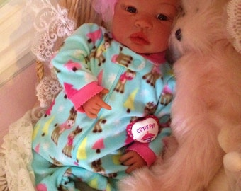 From the Biracial Shyann Kit  Reborn Baby Doll 19 inch Baby Girl Jada Complete Baby Doll