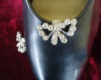Gorgeous Rhinestone Butterfly Shoe Clips!