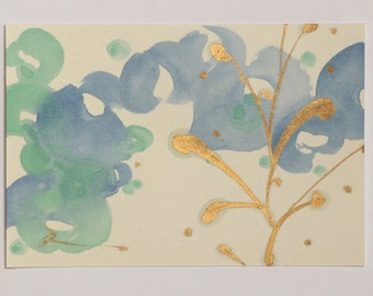 Painting of water, Japanese color art, music painting, Summer art painting, Japanese color art Reina Kobayashi art work'Piccolo valzer 2014'