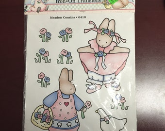 Daisy Kingdom Iron-On Transfers Meadow Cousins 6410