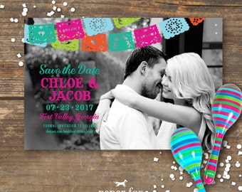 Fiesta Save the Date Photo Printable
