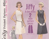 60s Simple A-line Dress Pattern Simplicity 5508 Size 12