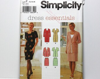 Uncut Sewing Pattern, Ladies Dress, Top, Skirt, Two Piece Dress, Simplicity 7107