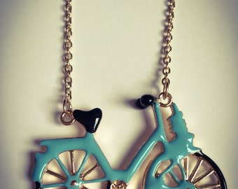SALE Necklace handmade vintage with fashion bicycle love eco