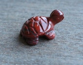 Red Jasper Turtle Figurine F79