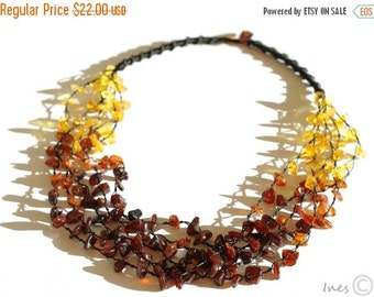 15% OFF THRU OCT Baltic Amber Necklace, Rainbow color necklace
