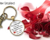 Wedding keepsake- Gift for groom, Mother of the groom gift, Son, Custom wedding keepsake, Custom keychain, from Mother to Son