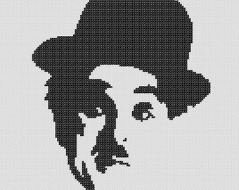 PATTERN: Charlie Chaplin Cross Stitch