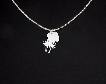 Squid Necklace - Squid Jewelry - Squid Gift