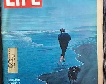 Vintage Life Magazine Featuring Robert Kennedy June 14 1968 Remembering Robert F. Kennedy