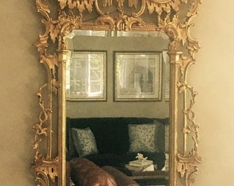 Chinese Chippendale Pagoda Mirror- Local Pick Up or Your Shipper