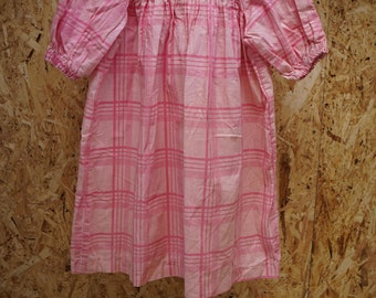 Girl's Vintage Pink Gingham Dress