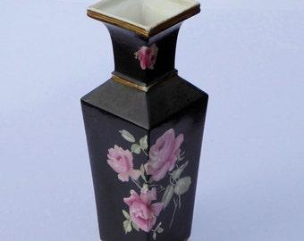 Edwardian Vase Art Nouveau Vase Hankow Pattern Vase Vintage Black Vase Vintage Vase Antique Vase Vintage Home Decor