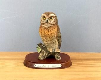 1970s Barn Owl Ornament Figurine by Leonardo England