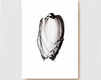 Shell art print II - Fine Art Print- Home decor print, glicee print, shell print, nautical print, shell art, shell wall art, print, digital