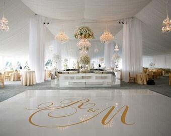 Dance Floor Decal Wedding Decor Decoration Monogram