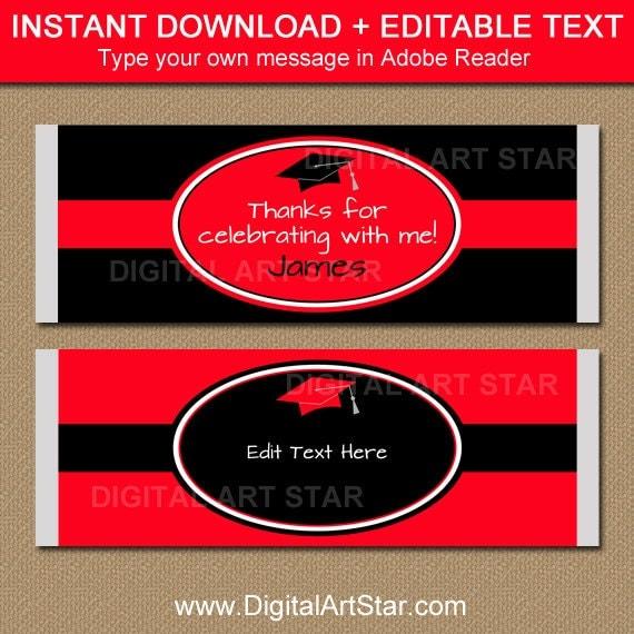 2017 graduation chocolate bar wrapper template graduation for Free printable graduation candy bar wrappers templates