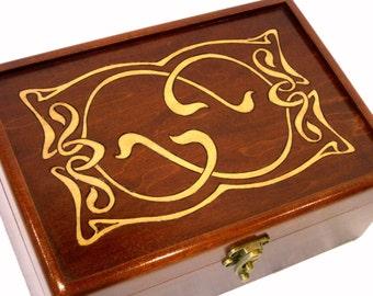 Elven Jewelry Box, Wedding Card Box, Guest Book Alternative, or Ring Box: Art Nouveau LOTR Wedding Keepsake Box, Wedding Decor AVAILABLE NOW