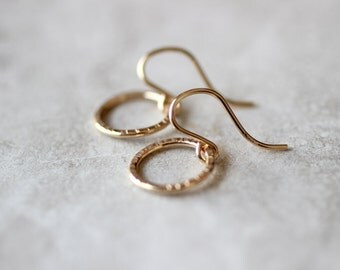Small Circle Earrings, Simple Hoops