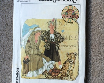 Safari Outfit, Skirt, Petticoat and Unlined Jacket, Safari Adventure Club, Costume Pattern, Simplicity 8764 Size 10