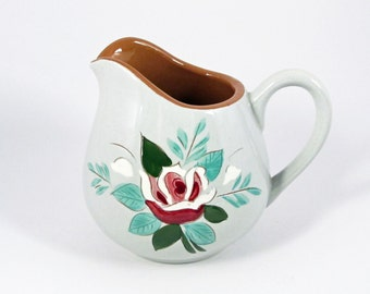 Stangl Bella Rosa Cream Pitcher Stangl Pottery Rose Design Stylized Creamer Vintage 1960s Dinnerware