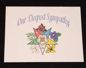 OES Sympathy Note Card