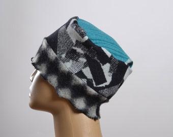 Women's Wool Hat - Repurposed Wool Hat - Blanket Hat - Winter Hats - Warm Hats - Women's Hats