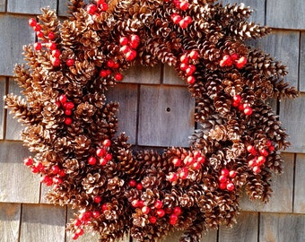 Lasting Pinecone Holiday Wreath
