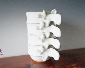Set of 4 Stackable Vertebra Cups 5-7 oz