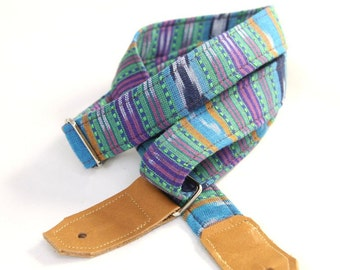 Navajo Jewel Ukulele Strap with Leather Ends
