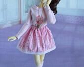 Floral skirt and headband for msd bjd. 45cm bjd,1/4bjd