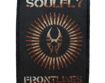 "Metal Band Apparel ""Soulfly: Frontlines"" War Single Art Sew On Applique Patch"