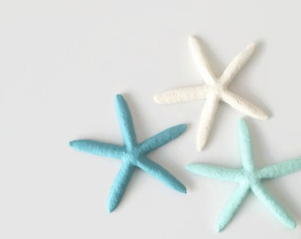 Starfish Home Decor. Beach House Decor. Decorative Starfish. Painted Starfish. Nautical Nursery. Coastal Cottage Decor. Metal Starfish.