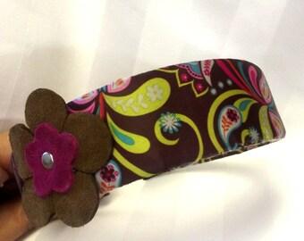 Handmade Headband, Hair Accessory, Boho Accessory,  Flower Headband, Mod Hair Accessory, Hair Band, Womens Accessories