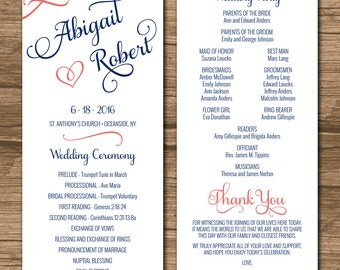 Succulent Wedding Program Ceremony Program PRINTABLE files
