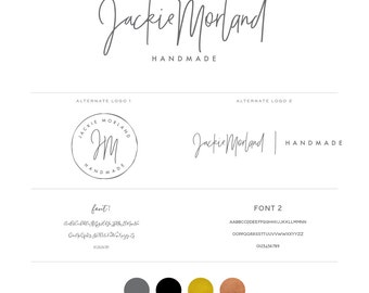 Modern signature Logo design - Calligraphy Logo - Rose Gold Logo - Gold Foil Logo - Custom PreDesigned for photography Logo or boutique logo