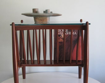 Vintage Magazine Rack End Table