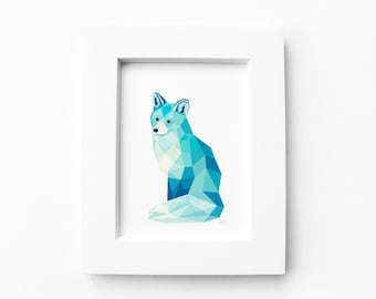 Renard g om trique etsy for Art minimaliste pdf
