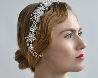 Lily of the Valley Wreath - 1920s & 1930s inspired bridal wreath, vintage wedding, Art Deco, vintage inspired hair accessory