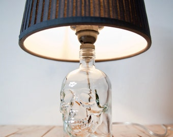 One of a Kind Skull Table Lamp 'Yorick' | Repurposed