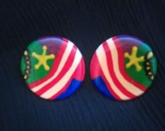 Stars & Stripes Vintage Earrings